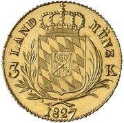 3 Kreuzer - Ludwig I (Gold Pattern) – revers