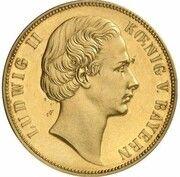 1 Vereinsthaler - Ludwig II (Gold Pattern) – avers