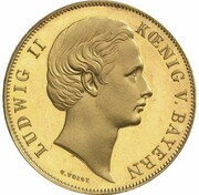 1 Gulden - Ludwig II (Gold Pattern) – avers