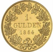 1 Gulden - Ludwig II (Gold Pattern) – revers