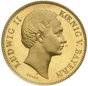 1/2 Gulden - Ludwig II (Gold Pattern) – avers