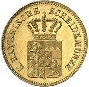 6 Kreuzer - Ludwig II (Gold Pattern) – avers