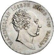 1/2 Thaler - Maximilian I. Josef (Schulpreistaler) – avers