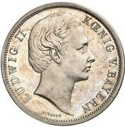 5 Mark - Ludwig II (Essai) – avers