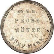 5 Mark - Ludwig II (Essai) – revers