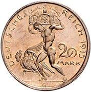 20 Mark - Ludwig III (Essai) – revers