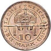 10 Mark - Ludwig III (Essai) – revers
