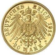 20 Mark - Ludwig III (Pattern) – revers