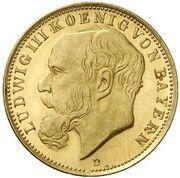 20 Mark - Ludwig III (Pattern) – avers