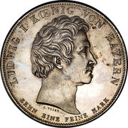 1 thaler - Ludwig I (Oberwittelsbach) – avers