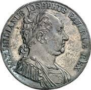 1 Conventionsthaler - Maximilian I Joseph (Bavarian Constitution - Pattern) – avers