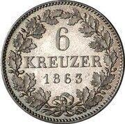 6 kreuzer Maximilian II – revers