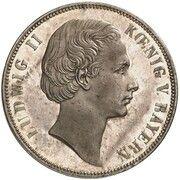 1 vereinsthaler Ludwig II – avers