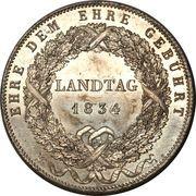 1 thaler - Ludwig I (Législative provisoire) – revers