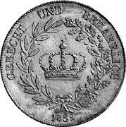 1 kronenthaler - Ludwig I – revers