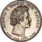 1 thaler - Ludwig I (Ordre bénédictin) – avers