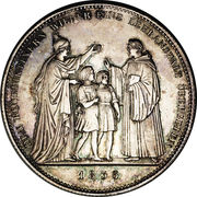1 thaler - Ludwig I (Ordre bénédictin) – revers