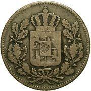 2 pfennige - Ludwig I – avers