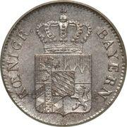 1 kreuzer - Ludwig I – avers