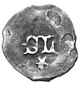1 Pfennig - Stephan III and his son Ludwig VII (Ingolstadt mint,3rd type) -  revers