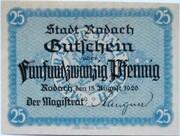25 Pfennig (Rodach) – avers