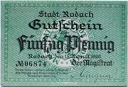 50 Pfennig (Rodach) – avers