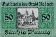 50 Pfennig (Rodach) – revers