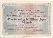 20,000,000,000 Mark (Senden - G. Gagstätter) – avers