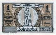 1 Mark (Solnhofen) – avers