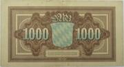 1000 Mark (Bayerische Notenbank) – revers