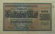 5000 Mark (Bayerische Notenbank) – avers