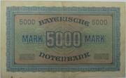 5000 Mark (Bayerische Notenbank) – revers