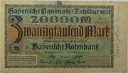 20,000 Mark (Bayerische Notenbank) – avers