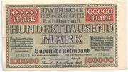 100 000 Mark (Bayerische Notenbank) – avers