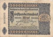 500,000 Mark (Bayerische Staatsbank) – avers