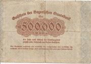 500,000 Mark (Bayerische Staatsbank) – revers