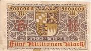 5,000,000 Mark (Bayerische Notenbank) – revers