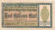 5,000,000 Mark (Bayerische Staatsbank) – avers