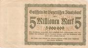 5,000,000 Mark (Bayerische Staatsbank) – revers