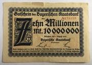 10,000,000 Mark (Bayerischen Staatsbank) – avers