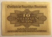 10,000,000 Mark (Bayerischen Staatsbank) – revers