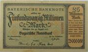 25,000,000 Mark (Bayerische Notenbank) – avers