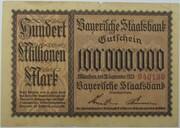 100,000,000 Mark (Bayerische Staatsbank) – avers