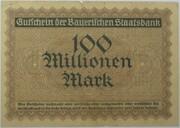 100,000,000 Mark (Bayerische Staatsbank) – revers