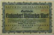 100,000,000,000 Mark (Bayerische Staatsbank) – avers