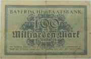100,000,000,000 Mark (Bayerische Staatsbank) – revers