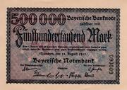 500,000 Mark  (Bayerische Notenbank) – avers