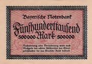 500,000 Mark  (Bayerische Notenbank) – revers