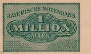 1,000,000 Mark (Bayerische Notenbank) – revers