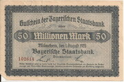 50,000,000 Mark (Bayerische Staatsbank) – avers